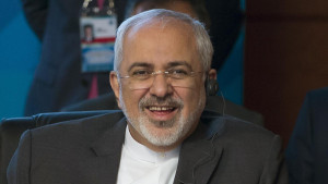 Iranian Foreign Minister Mohammad Javad Zarif smiles as he speaks during a meeting of foreign ministers of the Shanghai Cooperation Organization in Moscow, Russia Thursday, June 4, 2015. (AP Photo/Ivan Sekretarev)