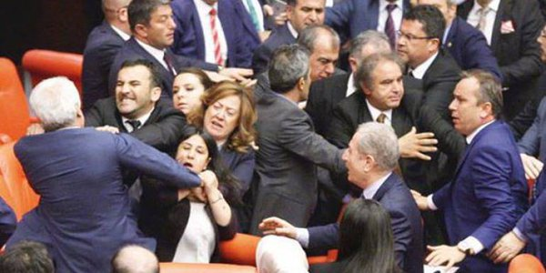 Turkey: AKP and HDP MPs Fight over Immunity Lifting, Draft